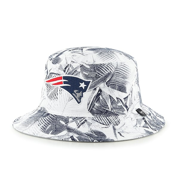 New England Patriots 47 Brand White Ohana Bucket Hat