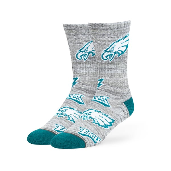 Philadelphia Eagles Percy Sport Crew Socks Gray 47 Brand