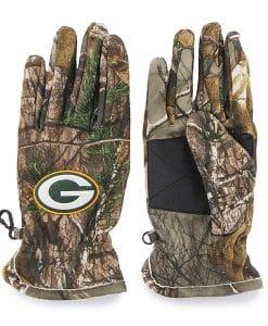 Green Bay Packers 47 Brand Realtree Camo Fleece Gloves