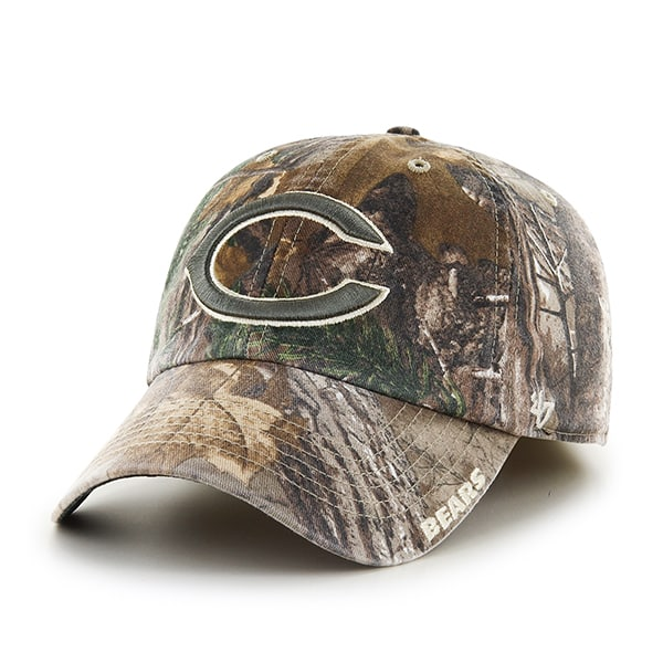 10dbcfe55 Chicago Bears 47 Brand Realtree Camo Franchise Fitted Hat - Detroit ...