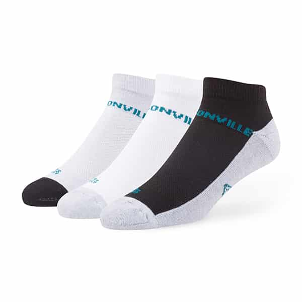 Jacksonville Jaguars MEDIUM 47 Brand Rush Motion Low Cut Socks 3 Pack