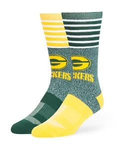 Green Bay Packers Vernon Fuse Socks Dark Green 47 Brand