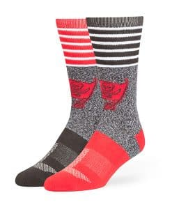 Tampa Bay Buccaneers Vernon Fuse Socks Graphite 47 Brand