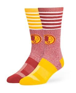 Washington Redskins Vernon Fuse Socks Razor Red 47 Brand