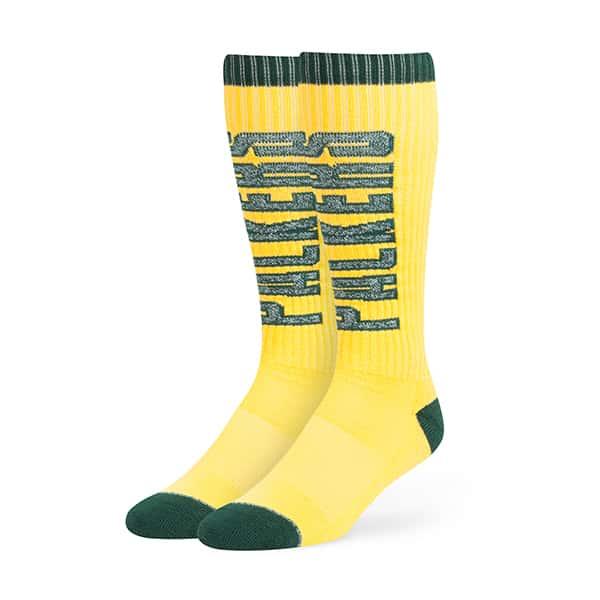 Green Bay Packers Warner Sport Socks OTC Cheddar 47 Brand
