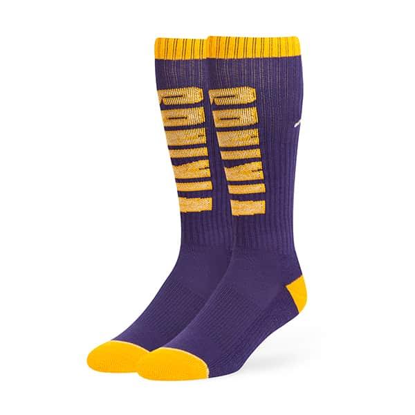 Minnesota Vikings Warner Sport Socks OTC Purple 47 Brand