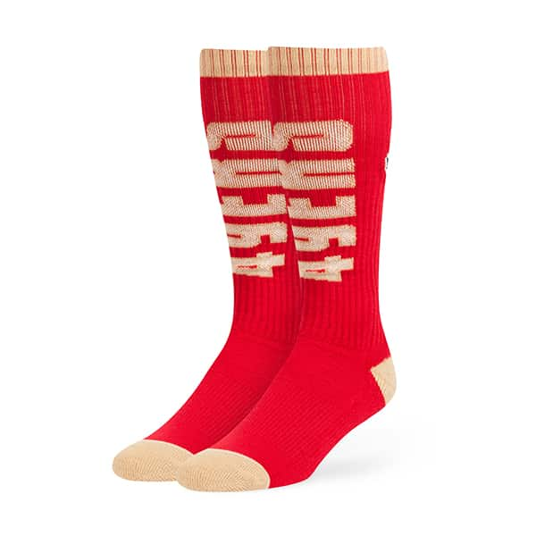 San Francisco 49Ers Warner Sport Socks OTC Red 47 Brand