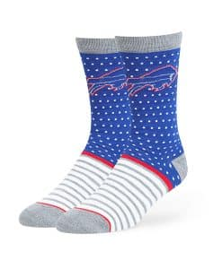 Buffalo Bills Willard Flat Knit Socks Royal 47 Brand