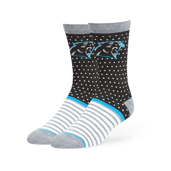 Carolina Panthers Willard Flat Knit Socks Black 47 Brand