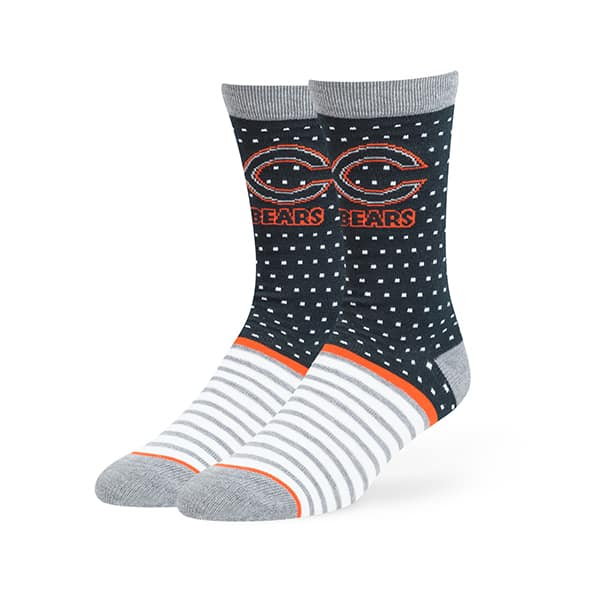 Chicago Bears LARGE 47 Brand Navy Willard Flat Knit Socks