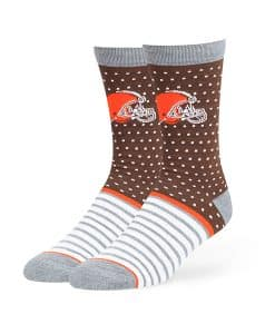 Cleveland Browns Willard Flat Knit Socks Brown 47 Brand