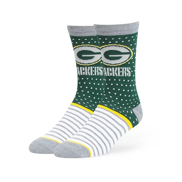 Green Bay Packers Willard Flat Knit Socks Dark Green 47 Brand