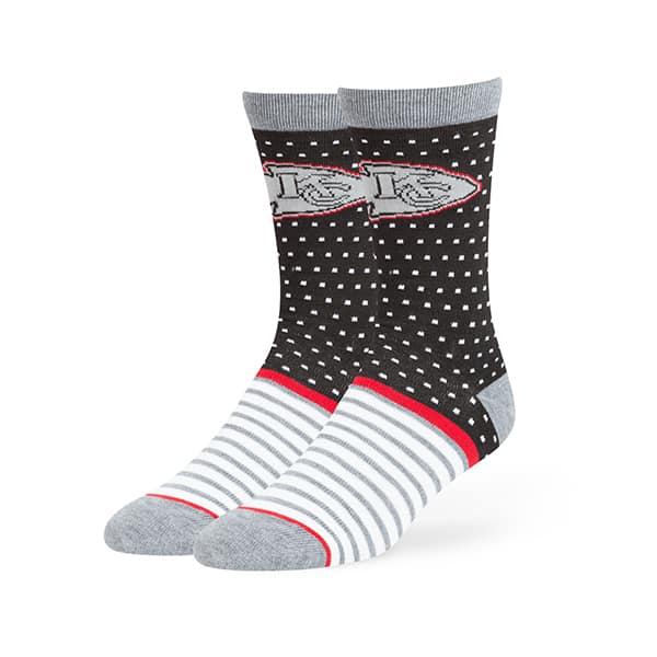 Kansas City Chiefs Willard Flat Knit Socks Black 47 Brand