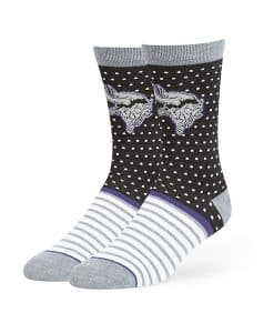 Minnesota Vikings Willard Flat Knit Socks Black 47 Brand