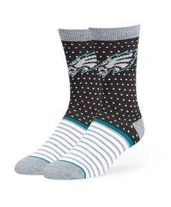 Philadelphia Eagles Willard Flat Knit Socks Black 47 Brand