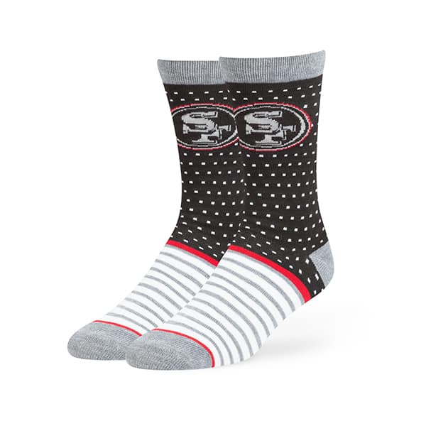 San Francisco 49Ers Willard Flat Knit Socks Black 47 Brand