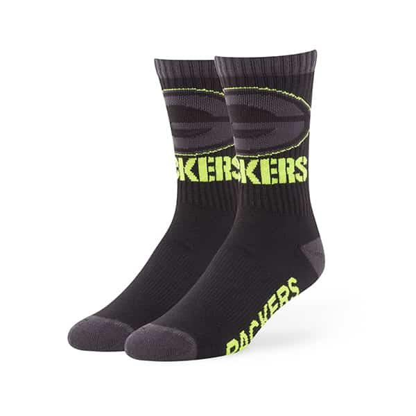 Green Bay Packers Warrant Sport Socks Black 47 Brand