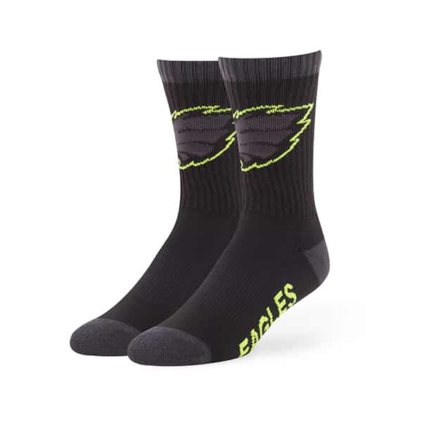 Philadelphia Eagles Warrant Sport Socks Black 47 Brand