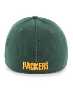 Green Bay Packers Franchise Dark Green 47 Brand Fitted Hat Back