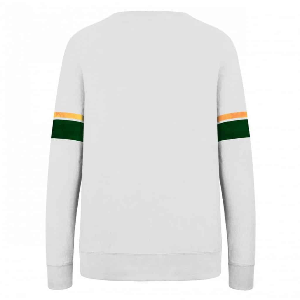 Green Bay Packers Women's 47 Brand Throwback Crew Long Sleeve Shirt Back