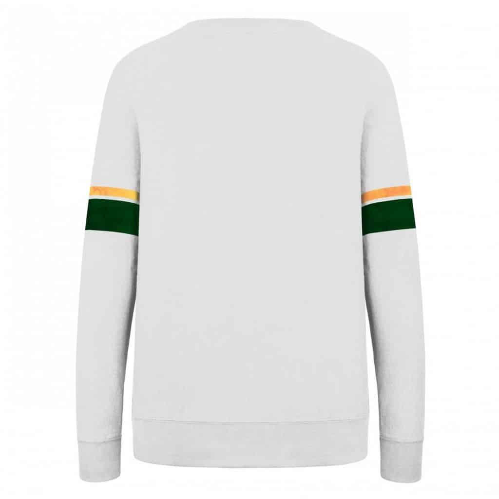 Green Bay Packers Women's 47 Brand Throwback Crew Long Sleeve Shirt Back