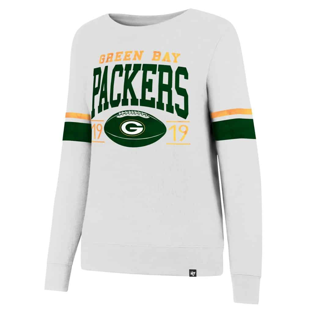 Green Bay Packers Women's 47 Brand Throwback Fleece Long Sleeve Shirt