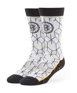 Boston Bruins Beehive Fuse Socks Gray 47 Brand
