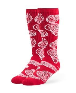 Detroit Red Wings Bravado Sport Socks OTC Red 47 Brand