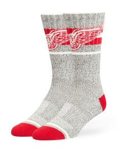 Detroit Red Wings Collins Fuse Socks Brown 47 Brand