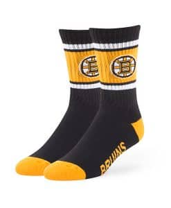 Boston Bruins Duster Sport Socks Black 47 Brand