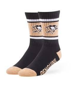 Pittsburgh Penguins Duster Sport Socks Black 47 Brand