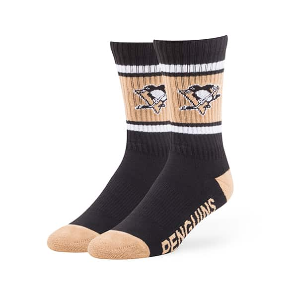 Pittsburgh Penguins Duster Sport Socks Black 47 Brand