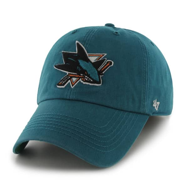 the latest ab325 56ea4 San Jose Sharks Franchise Dark Teal 47 Brand Hat