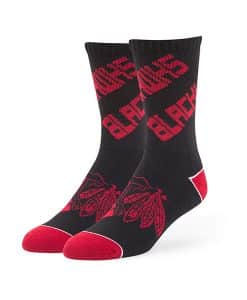 Chicago Blackhawks Helix Sport Socks Black 47 Brand