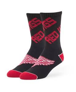 Detroit Red Wings Helix Sport Socks Black 47 Brand