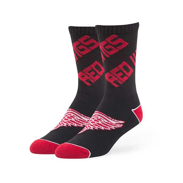 Detroit Red Wings Helix Sport Socks Black 47 Brand