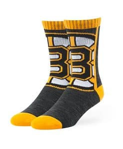 Boston Bruins Hot Box Sport Socks Black 47 Brand