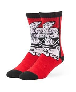 Chicago Blackhawks Hot Box Sport Socks Red 47 Brand