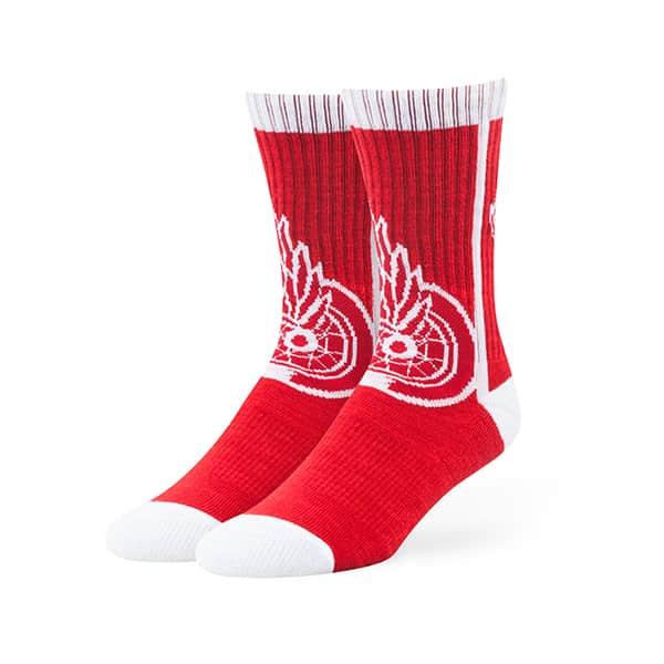 Detroit Red Wings Hot Box Sport Socks Red 47 Brand
