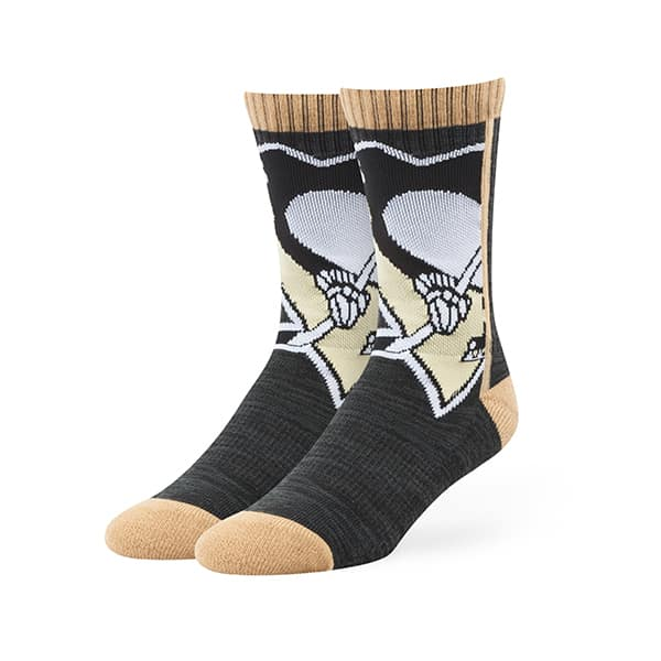 Pittsburgh Penguins Hot Box Sport Socks Black 47 Brand