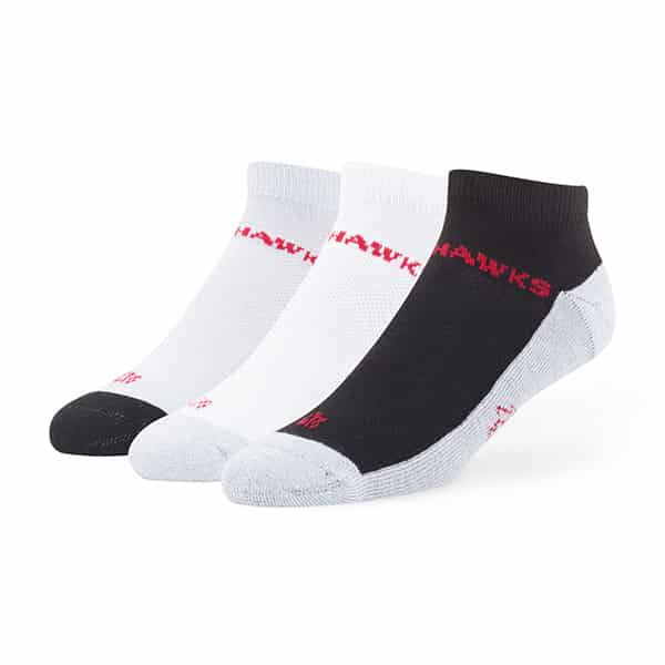 Chicago Blackhawks Rush Motion Low Cut Socks 3 Pack Tonal 47 Brand