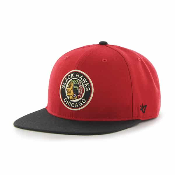 Chicago Blackhawks Hole Shot Two Tone Red 47 Brand Hat