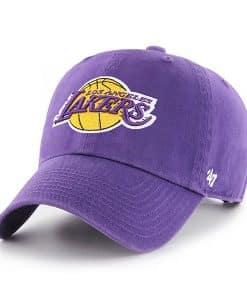Los Angeles Lakers 47 Brand Purple Clean Up Adjustable Hat