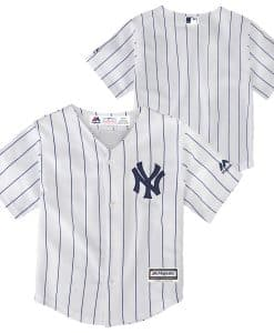 New York Yankees Baby Majestic White Home Pinstripe Jersey