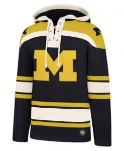 Michigan Wolverines Men's 47 Brand Navy Pullover Jersey Hoodie