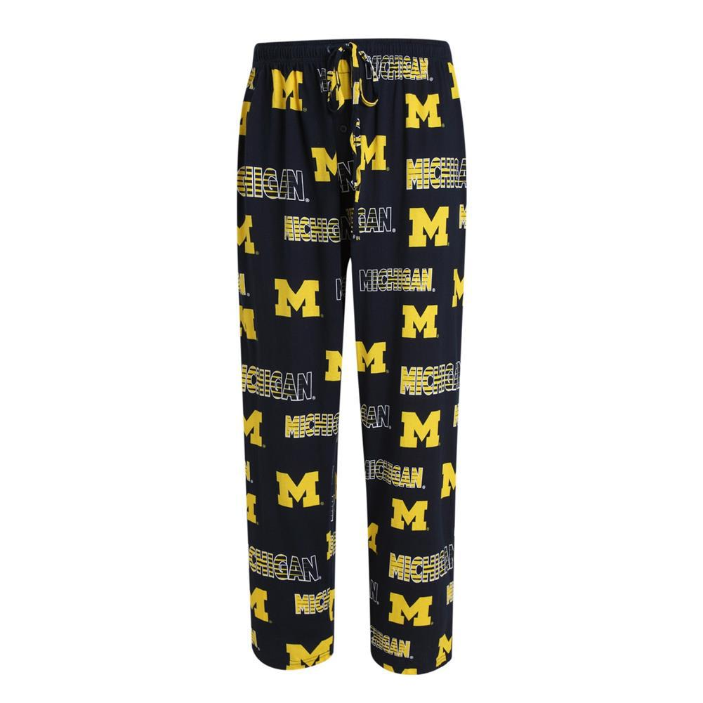 UofM Mens Printed Knit Pajama Pants