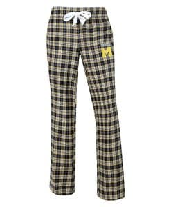 Michigan Wolverines Womens Flannel Pajama Pants