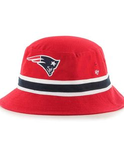 New England Patriots SM 47 Brand Striped Red Bucket Hat