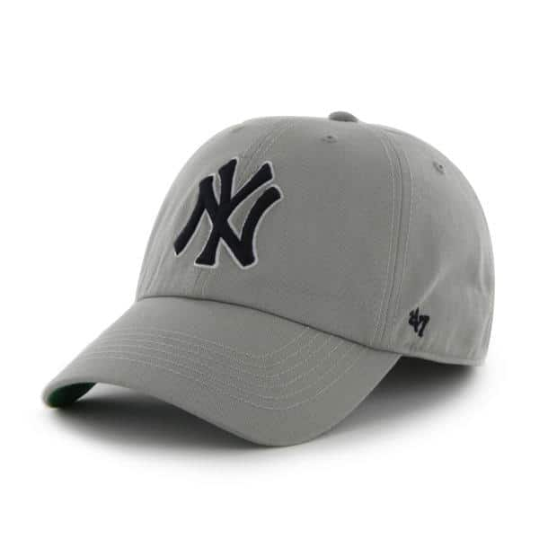 New York Yankees LARGE 47 Brand Gray Franchise Fitted Hat