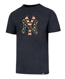 New York Yankees Men's 47 Brand Red White & Blue T-Shirt Tee